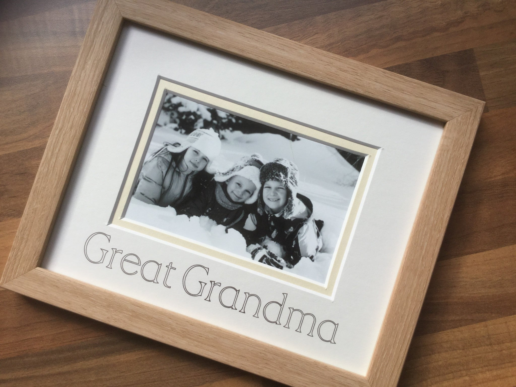 Great Grandma Photo Frame Beech - Azana Photo Frames