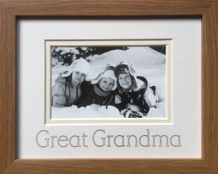 Great Grandma Photo Frame Oak