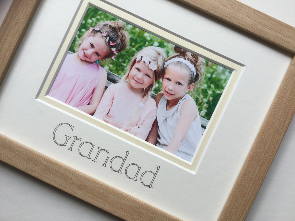 Grandad Photo Frame, Beech