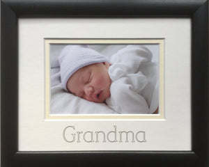 Grandma Photo Frame Black