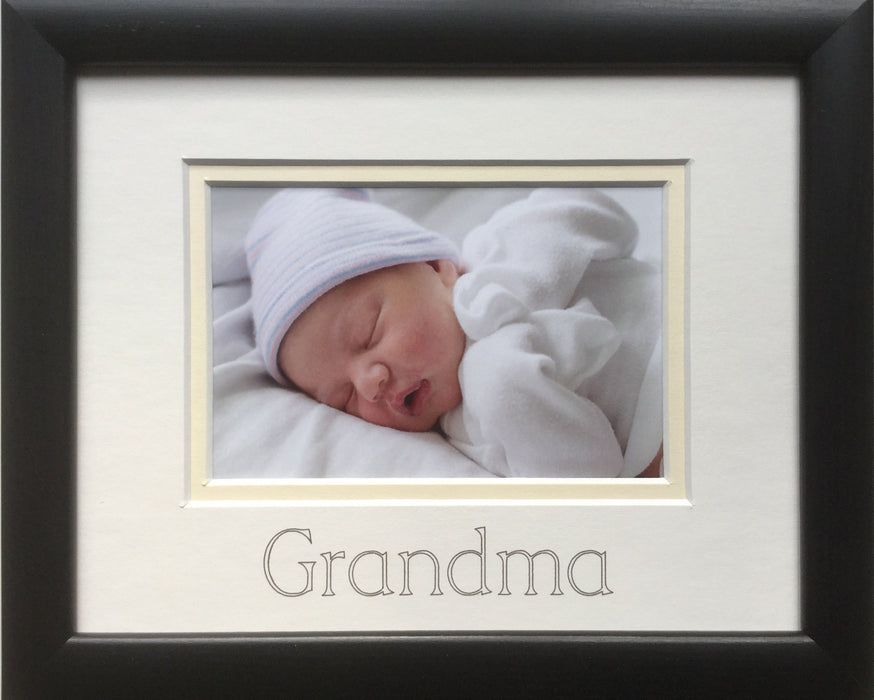 Grandma Photo Frame 9 x 7 Black