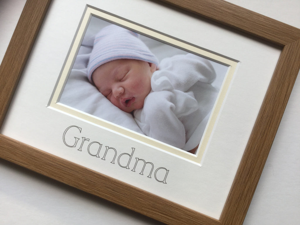Grandma Photo Frame, Oak