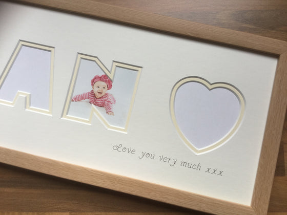 Nan and Heart Collage Photo Frame 20 x 8