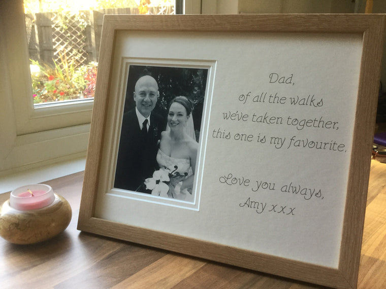 Father of the Bride Of All The Walks of Life Photo Frame Beech