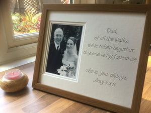 Father of the Bride Of All The Walks of Life Photo Frame Oak