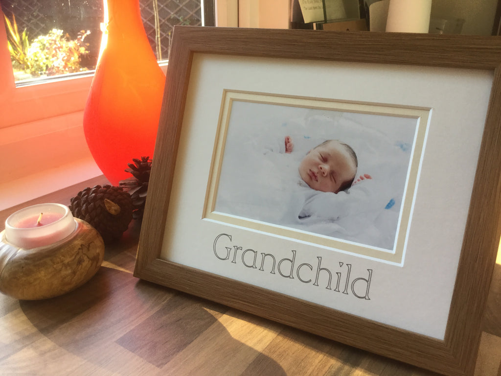 Grandchild Photo Frame - Oak