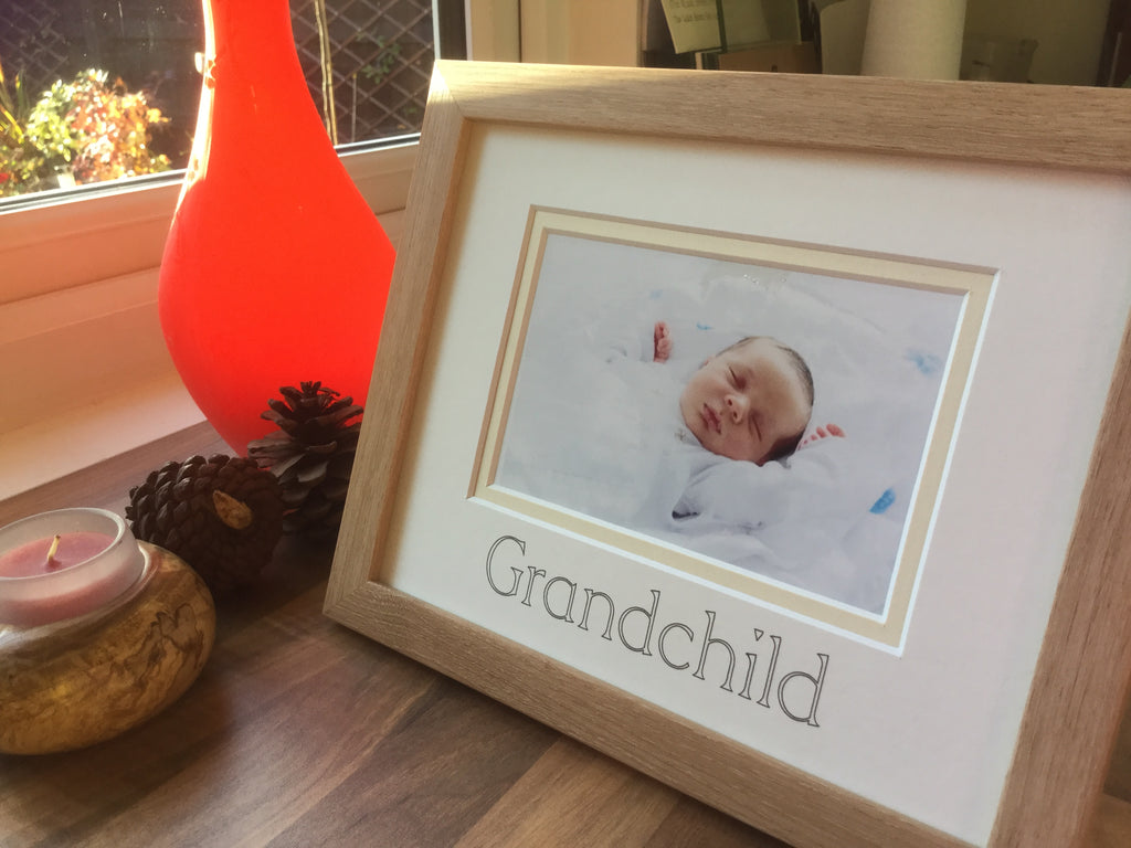 Grandchild Photo Frame - Beech