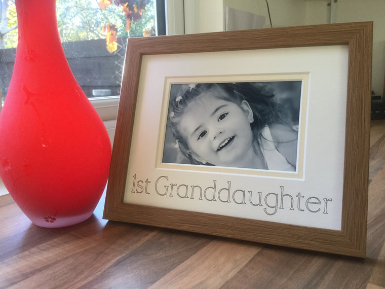 First Granddaughter Photo Frame Oak 9 x 7