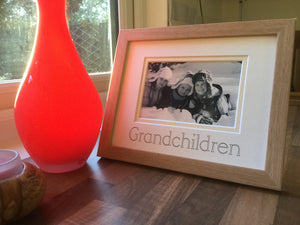 Grandchildren Photo Frame Beech