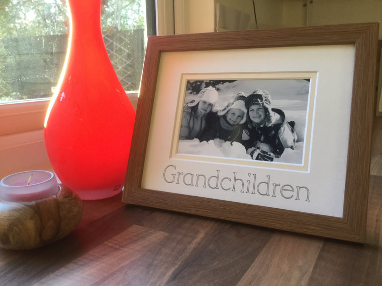 Grandchildren Photo Frame Oak