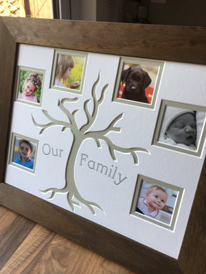 Our Family Tree 6 Picture Collage Wooden Frame 14 x 11