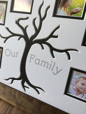 Black Family Tree 6 Pictures Frame - Dark Brown
