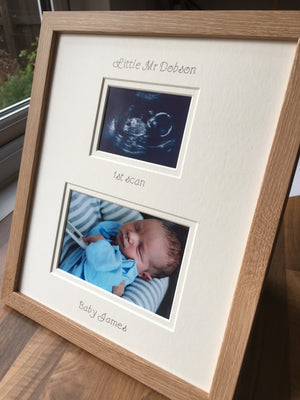 Personalise Your Baby Photo Frame 12 x 10 Beech