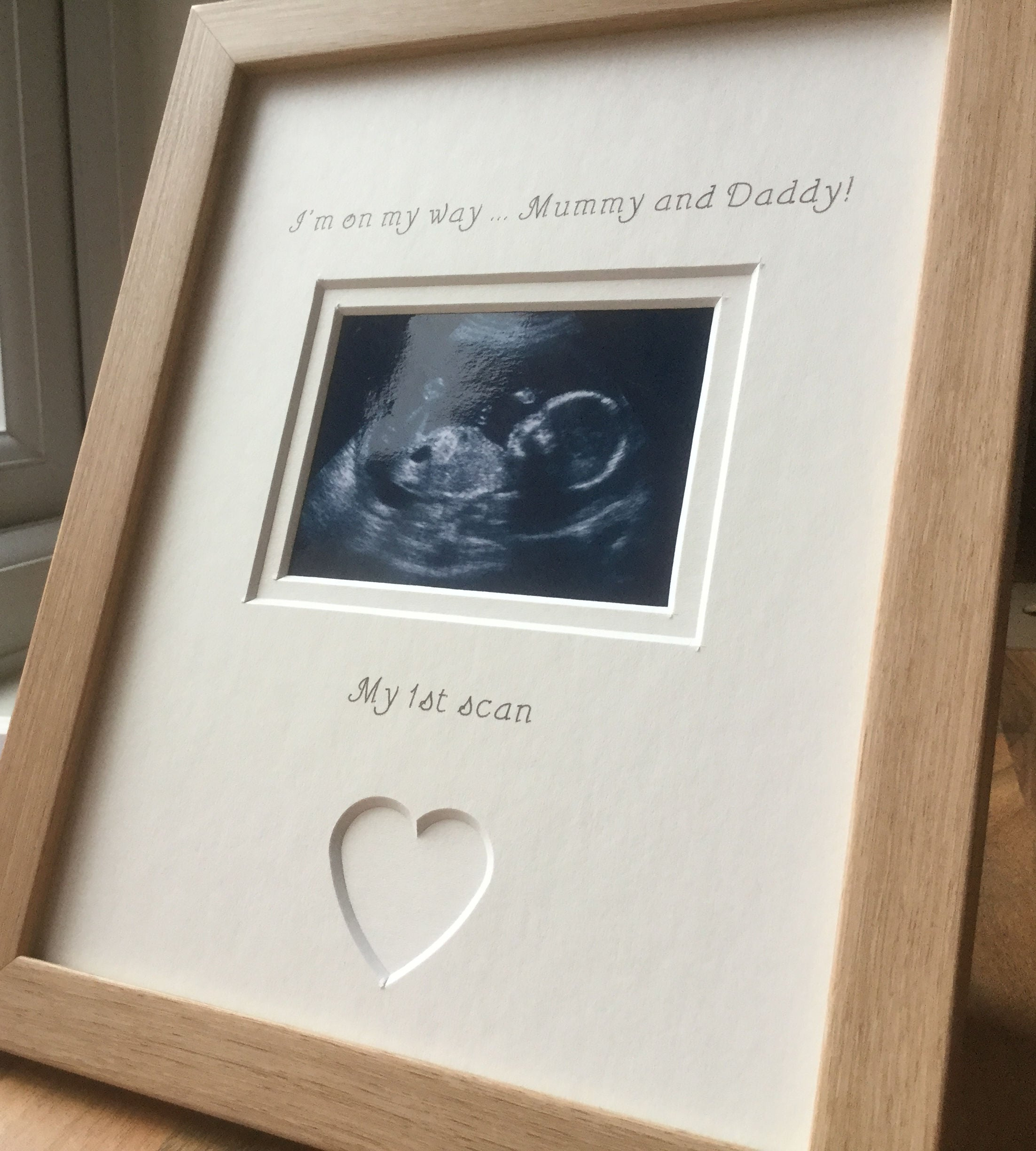 My First Scan Mummy and Daddy Photo Frame - Azana Photo Frames