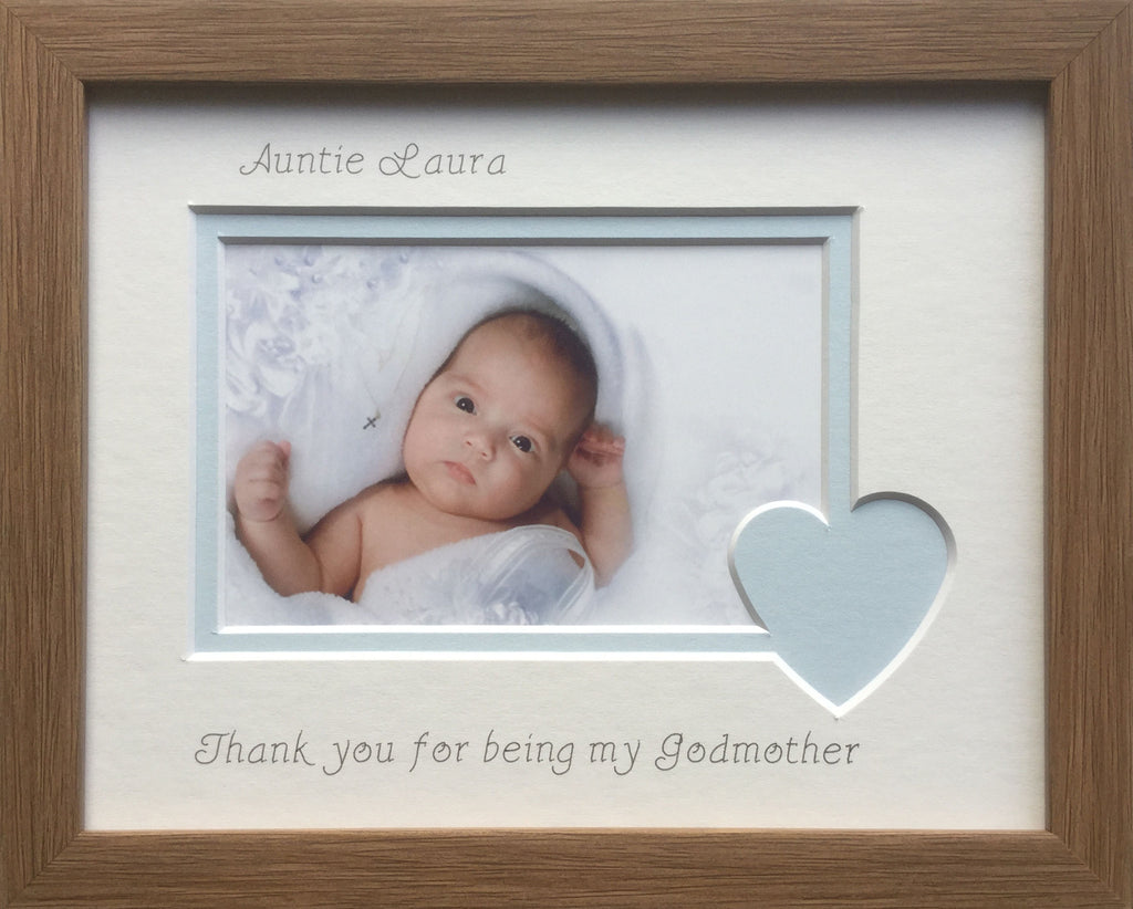 Oak Thank you Godmother Photo Frame 9 x 7