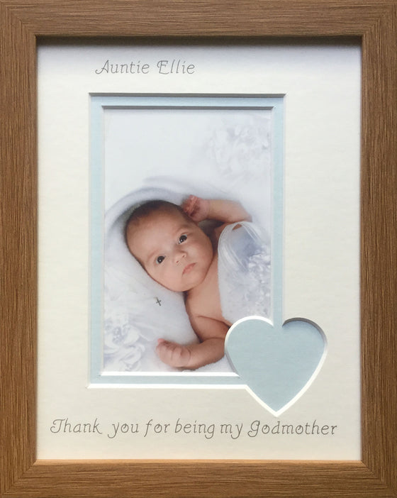 Christening Photo Frames, Personalised Baptised Photo Frames - Azana ...