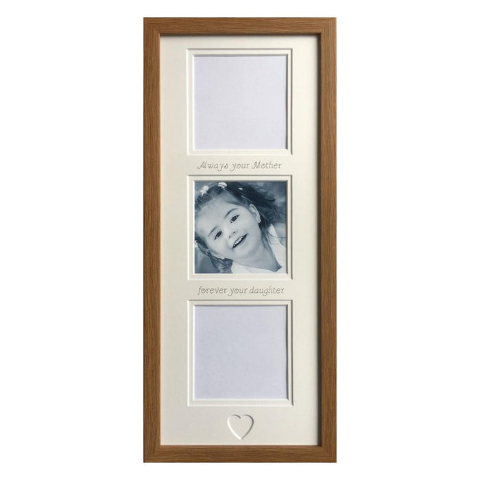 Always Your Mother Forever Your Daughter Collage Picture Frame Oak