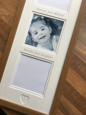 Always Your Mother Forever Your Daughter Photo Frame Oak