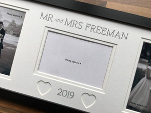 Customise Mr and Mrs Surname and Year Picture Frame