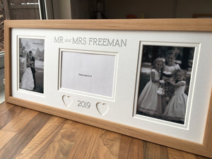 Mr & Mrs Personalised Wedding Surname and Year Frame