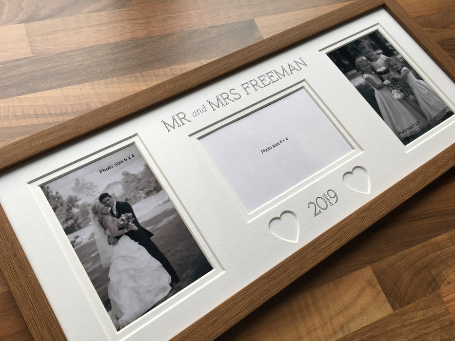 Mr & Mrs Collage Heart Picture Frame