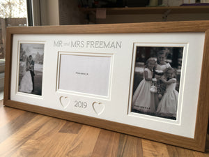 Mr & Mrs Surname & Year Picture Frame