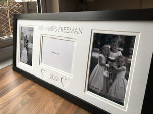 Customise Mr and Mrs Wedding Photo Frame
