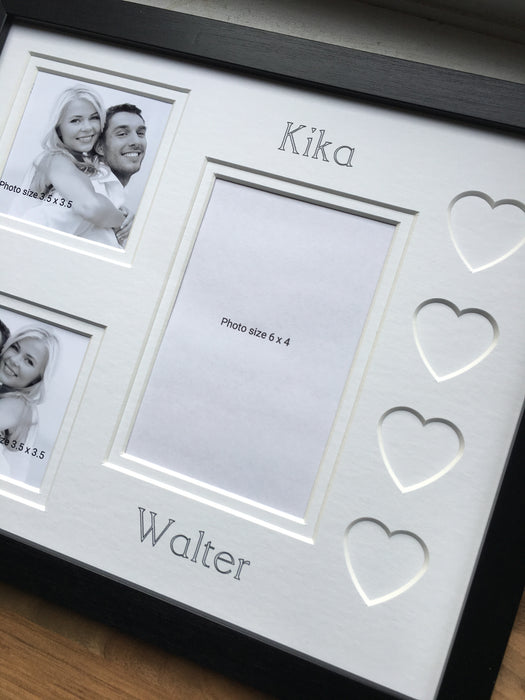 Personalised Love Heart Couple Photo Frame