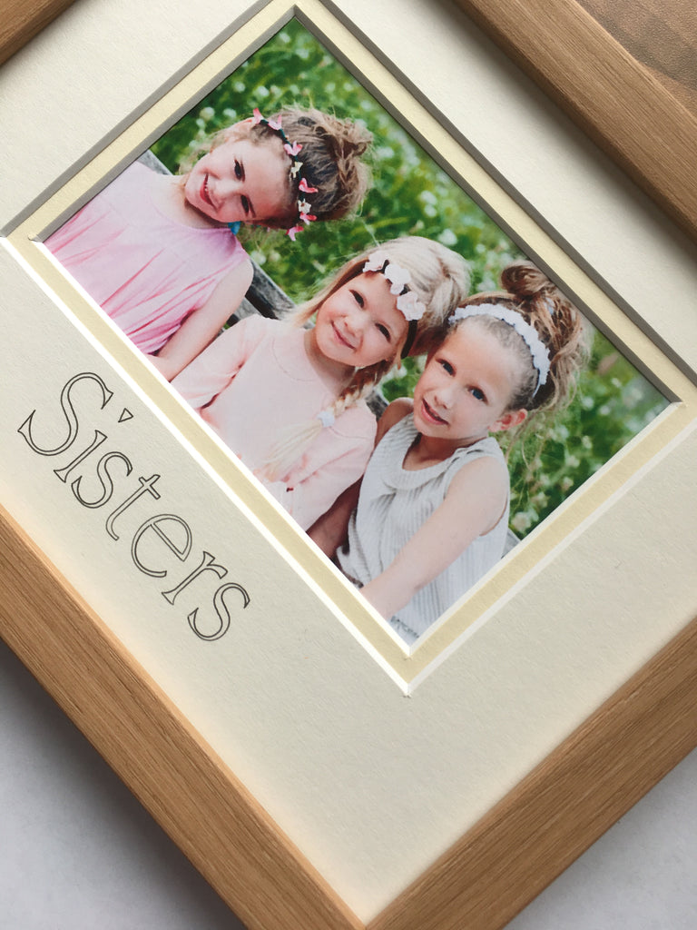 Sisters Photo Frame 9 x 7 Beech