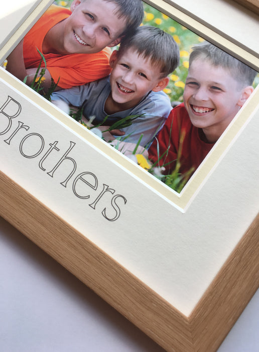 Brothers Picture Frame 9 x 7 Beech