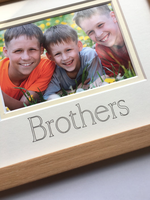 Brothers Frame 9 x 7 Beech