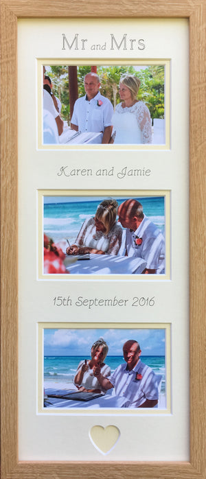 Mr and Mrs Personalised Name Date Marriage Frame