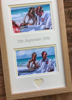 Mr and Mrs Personalised Cream Wedding Frame