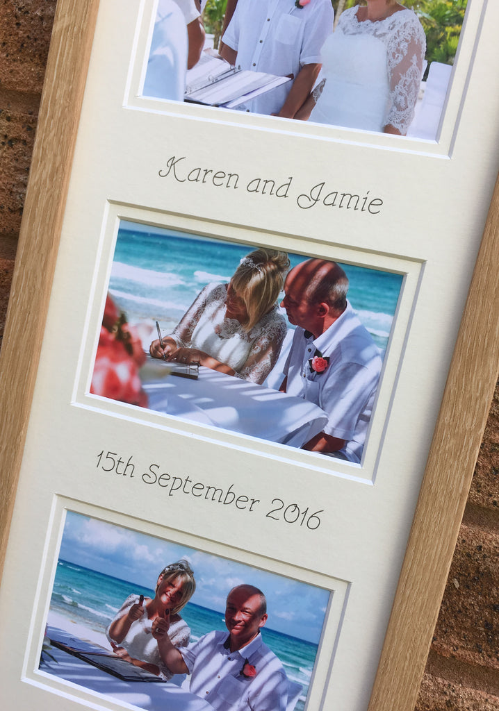 Mr and Mrs Personalised White Wedding Frame