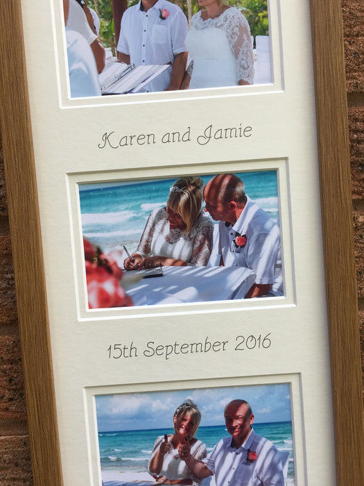 Mr & Mrs Personalised Picture Frame 20 x 8