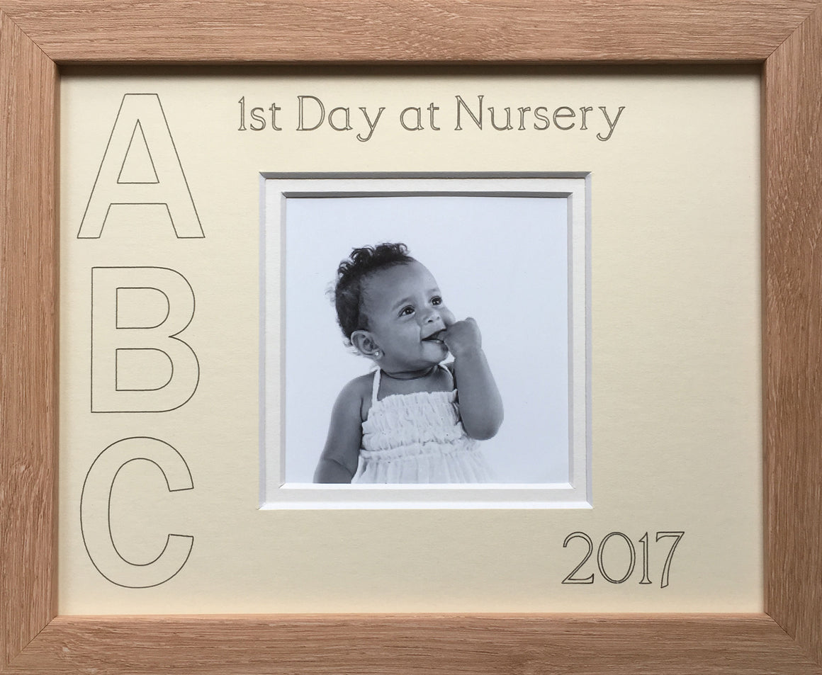 First Day at Nursery ABC Year Photo Frame