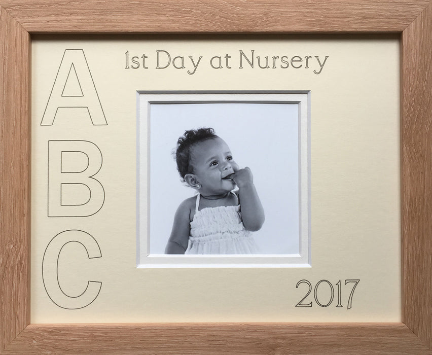 First Day at Nursery ABC Year Photo Frame 9 x 7
