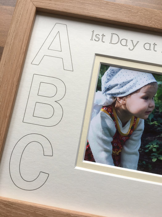 1st Day at Nursery ABC White Mount Beech Frame