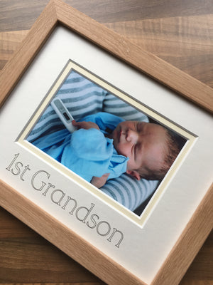 1st Grandson Photo Frame Beech Wood-Effect 9 x 7
