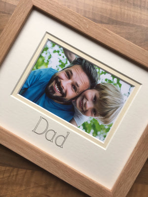 Dad Picture Frame 9 x 7 Beech Wood-effect Style