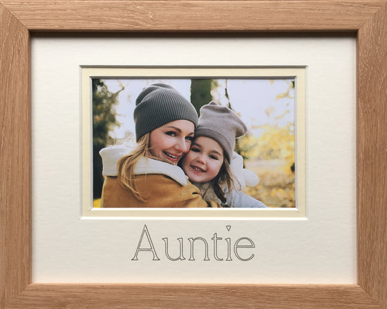 Auntie Photo Frame 9 x 7 Beech Wood-Effect
