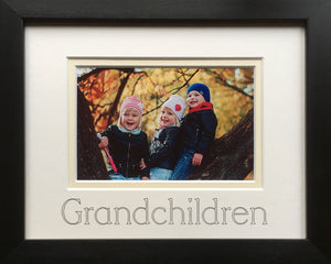 Grandchildren Photograph Picture Frame 9 x 7 Black