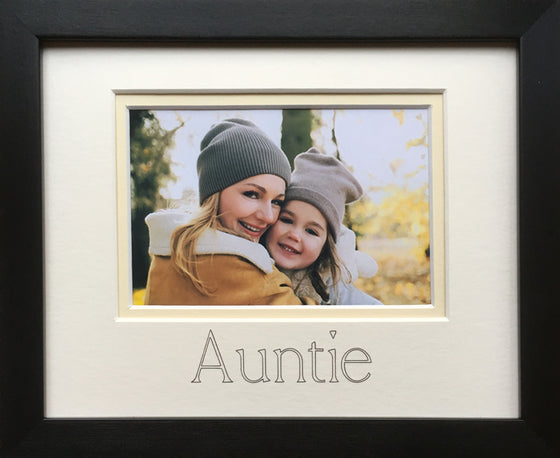 Auntie Aunt Aunty Photo Frame 9 x 7 Black