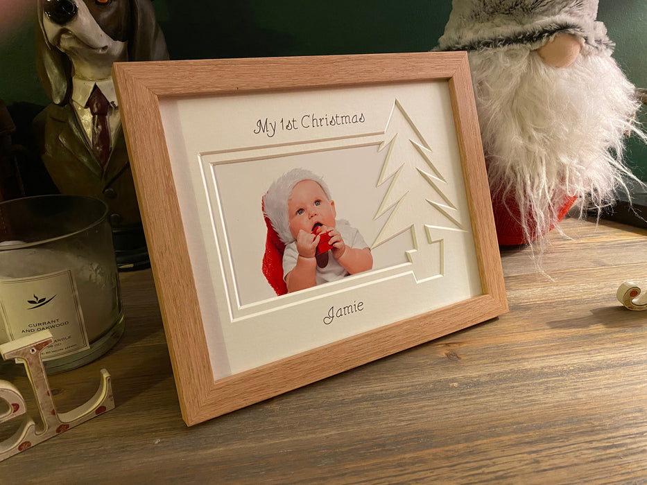 Christmas Tree photo frame - personalised