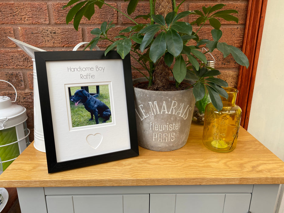Personalised Handsome Boy Dog Photo Frame