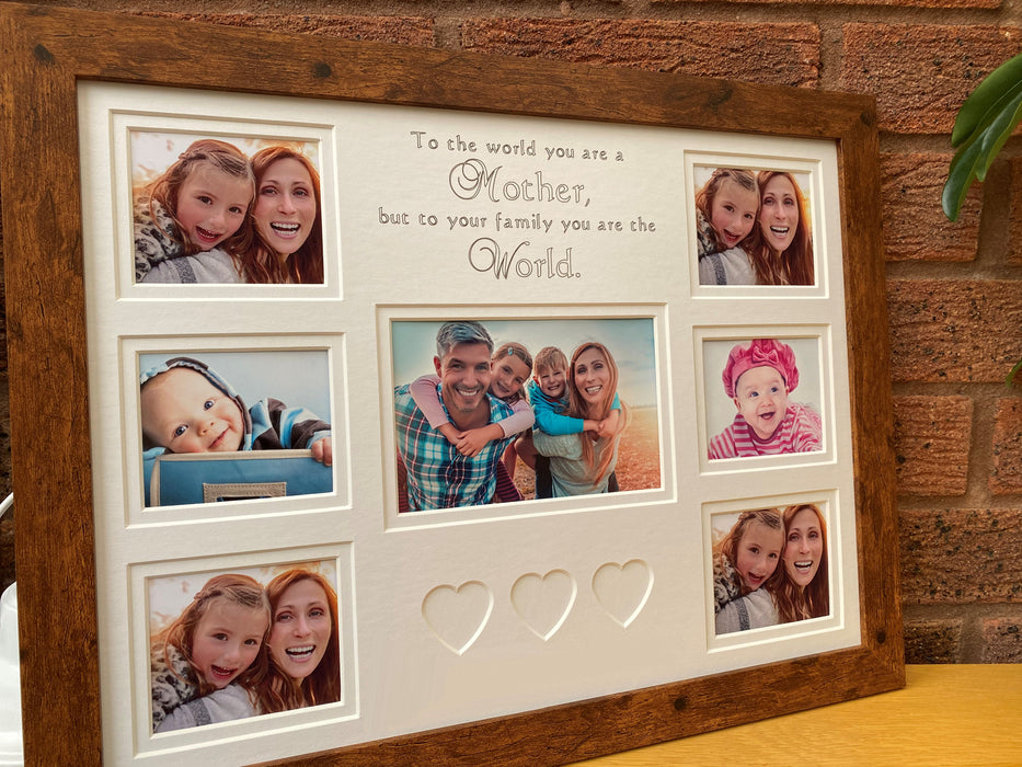 To The World You Are A Mother Family Picture Frame