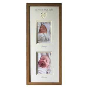 Love 1st Sight Photo Frame 20 x 8 Oak