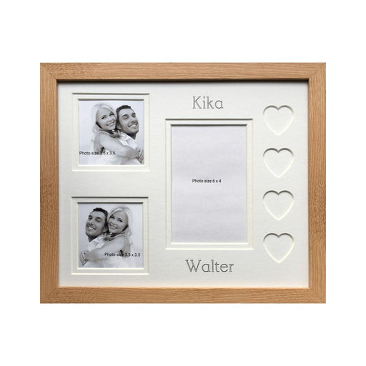 Customised Name Love Heart Photo Frame