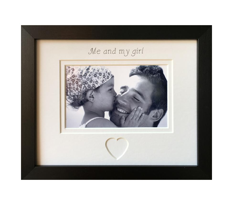 Me and My Girl Picture Frame Black 9 x 7 Landscape