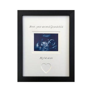 Meet your 2nd Grandchild 1st scan frame 9 x 7 Black